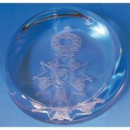 Presse-papiers dôme en verre LH