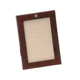 Cadre en loupe avec médaille émaillée ONM 10X15 cm