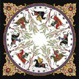 Foulard Cavaliers Perses Noir