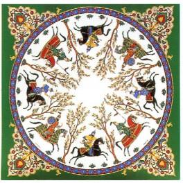 Foulard Cavaliers Perses Vert