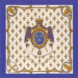 Foulard Lys de France, bleu roy