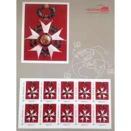 Planche de 10 timbres LH